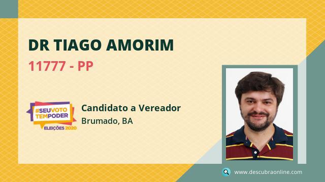Dr Tiago Amorim 11777 PP Candidato a Vereador Brumado, BA
