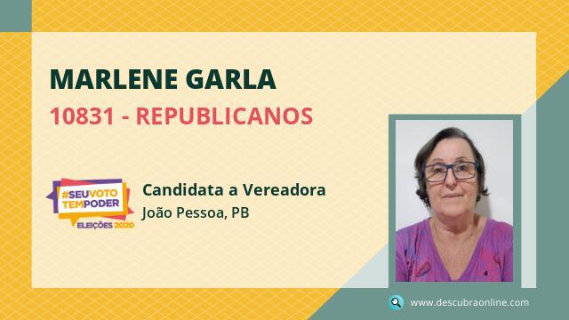 Marlene Garla 10831 REPUBLICANOS Candidata a Vereador João Pessoa, PB